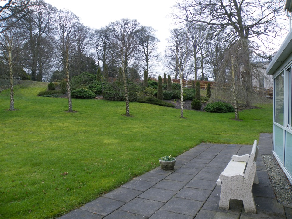 with pleasant outdoor relaxation areas