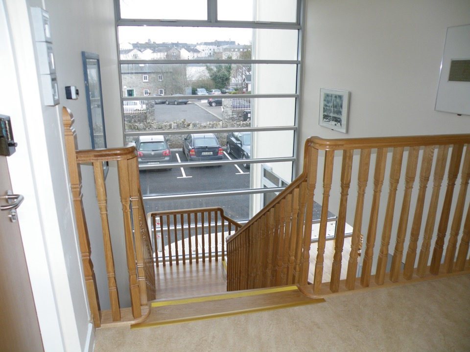 We have stairs and lift access to upper floors